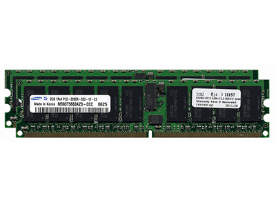 Оперативная память 4GB RDIMM DDR2 PC3200 (2x2GB Kit), 343057-B21
