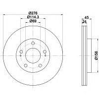 Тормозные диски Mitsubishi Sigma (90-96, передние, Optimal)