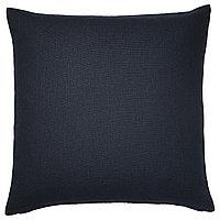 Чехол на подушку 50х50 ВИГДИС темно-синий ИКЕА, IKEA , фото 1