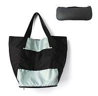Сумка складная Magic Bag [25 л] с кармашками и чехлом (Серо-черная)