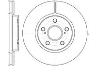 Тормозные диски Toyota Camry 30 (01-06, передние, Optimal) Ashika, фото 1