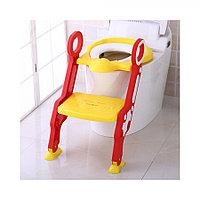 Сиденье для унитаза с лесенкой и ручками Pituso Желтый 16018B