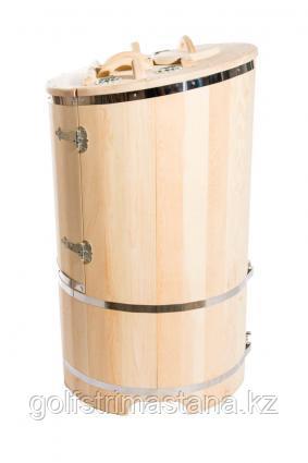 Фитобочка со скосом 78*130 см. стенки 2,5 см. / кедровая / круглая / классическая