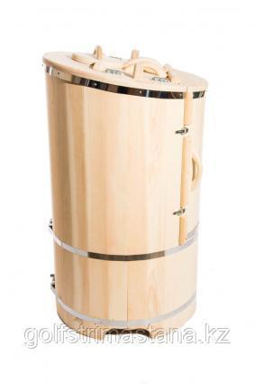 Фитобочка гигант со скосом 100*130 см. стенки 4,0 см./ кедровая / круглая / профессиональная