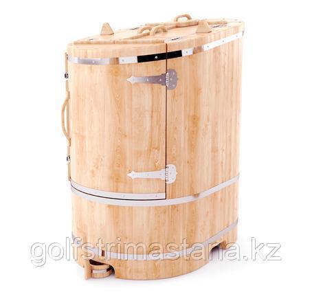 Фитобочка со скосом 78*100*130 см. тол. 4 см / овальная / кедровая / профессиональная.