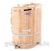Фитобочка  со скосом 78*100*130 см. тол. 2,5 см / овальная / кедровая / классическая.