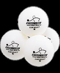 Мяч для настольного тенниса 1* Club Select белый, 6 шт.
