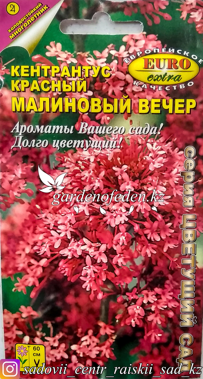 """Семена пакетированные Euro Extra. Кентрантус красный """"Малиновый вечер""""."""