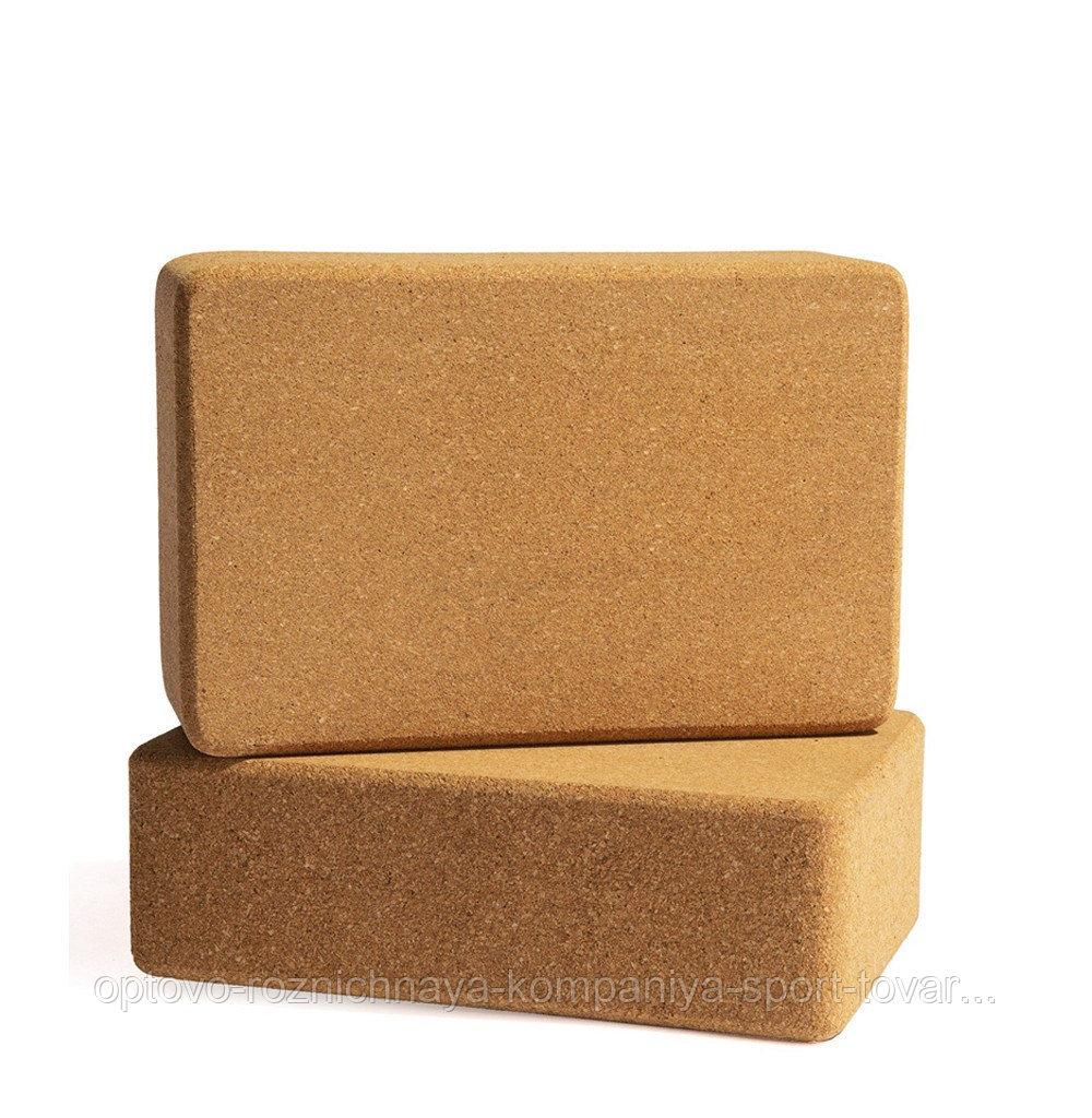 Блок (кирпич) для йоги пробковый