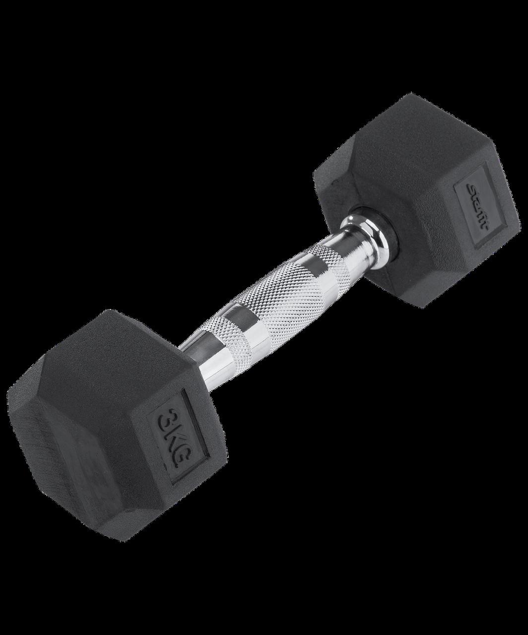 Гантель обрезиненная DB-301 3 кг, черная