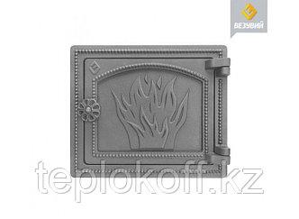 Дверь печная чугунная Везувий (ДТ-3), некрашеная (Везувий)