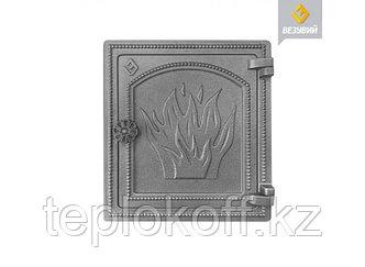 Дверь печная чугунная Везувий (ДТ-4), некрашеная (Везувий)