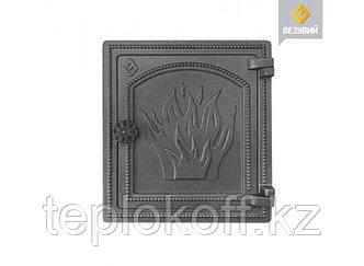 Дверь печная чугунная Везувий (ДТ-4), антрацит (Везувий)