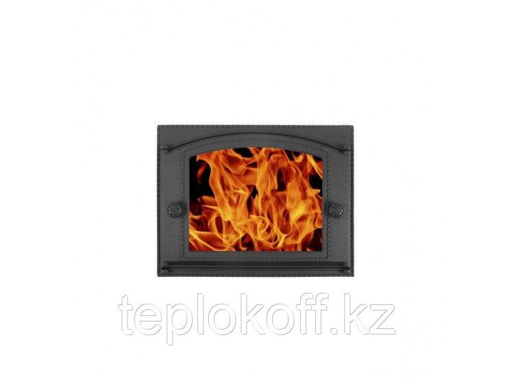 Дверь каминная топочная ДК-2ВС 375х300 RLK 365, крашеная (Рубцовск-Литком)