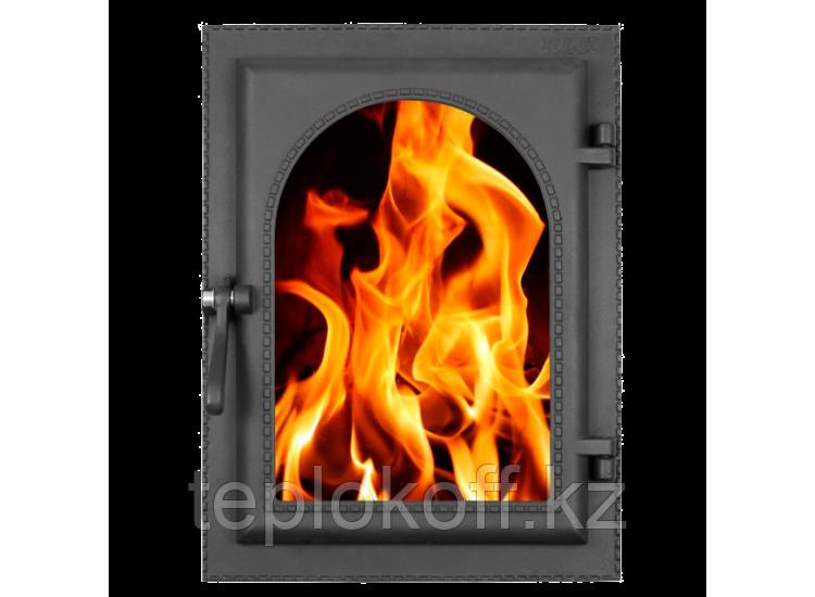 Дверь каминная топочная уплотненная ДКУ-9С 290x410 RLK 365, крашеная (Рубцовск-Литком)