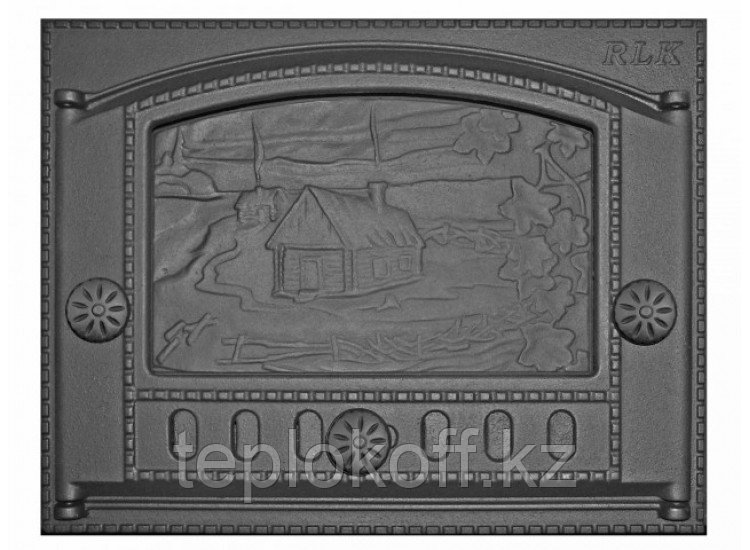 Дверь каминная топочная ДК-2Б 375х300 RLK 345, крашеная (Рубцовск-Литком)