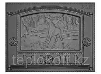 Дверь каминная топочная ДК-2Б 375х300 RLK 335, крашеная (Рубцовск-Литком)