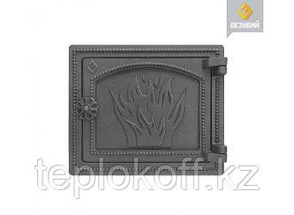 Дверь печная чугунная Везувий (ДТ-3), антрацит (Везувий)