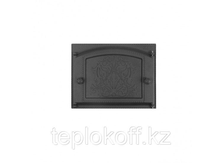 Дверь каминная топочная ДК-2В 375х300 RLK 9117, крашеная (Рубцовск-Литком)