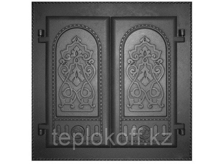 Дверь каминная топочная ДК-6 410х410 RLK 8314, крашеная (Рубцовск-Литком)