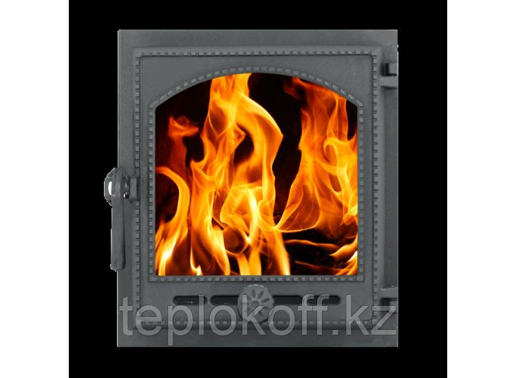 Дверка топочная герметичная ДТГ-8АС ОНЕГО 340x370 RLK 6210, крашеная (Рубцовск-Литком)