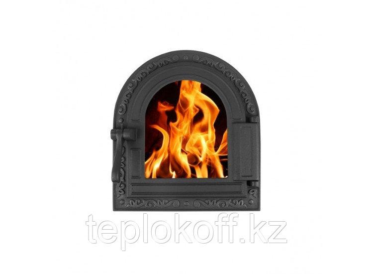 Дверь топочная герметичная ДТГ-10С ОЧАГ 250x290, крашеная (Рубцовск-Литком)