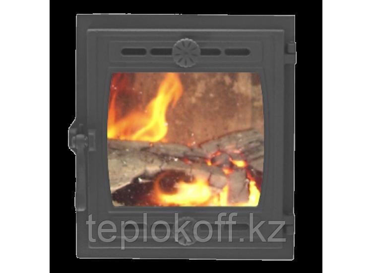 Дверь топочная герметичная ДТГ-8БС КИЖИ-2 290x325 RLK 6110, крашеная (Рубцовск-Литком)