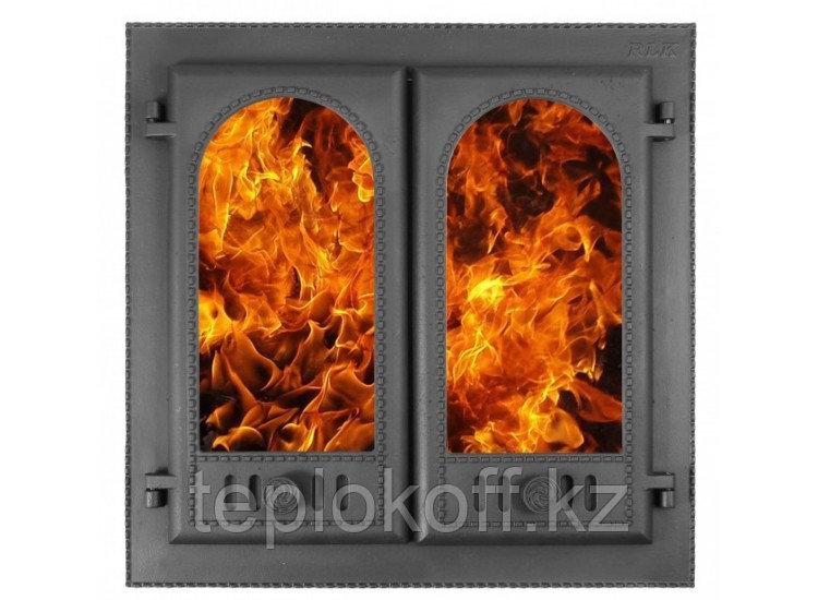 Дверь каминная ДК-8С ГОРНИЦА-2 500х500 RLK 8415, крашеная (Рубцовск-Литком)