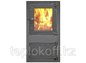 Печной портал со стеклом ПДТ-4.1С RLK 517 RLK 385, крашеный (Рубцовск-Литком)