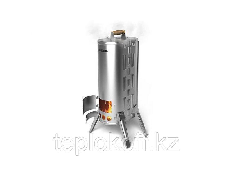 Печь-коптильня портативная ТМФ Дуплет-2 Inox, дровяная