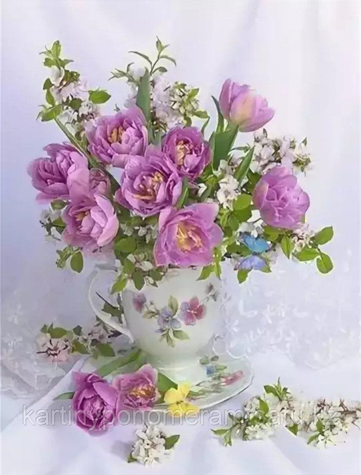 """Картина по номерам """"Розовые тюльпаны"""""""