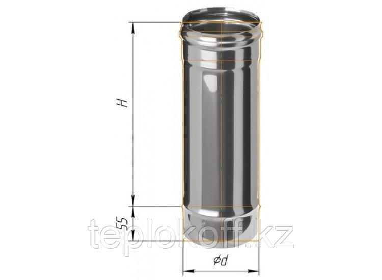 Дымоход L=500, D=200, AISI 430, 0,5 мм (Феррум)