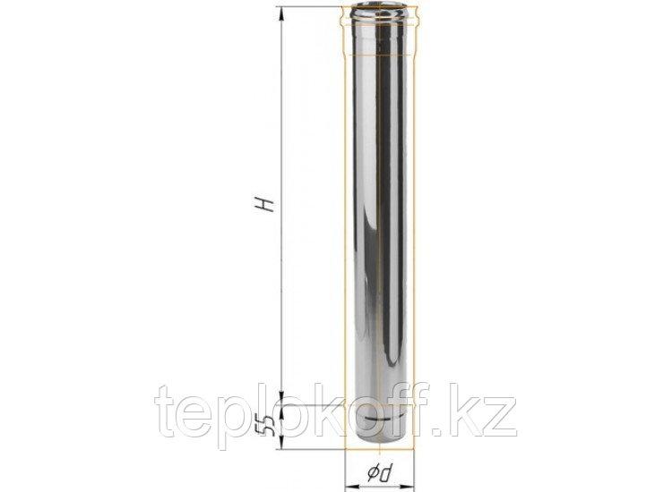 Дымоход L=1000, D=200, AISI 430, 0,8 мм (Феррум)