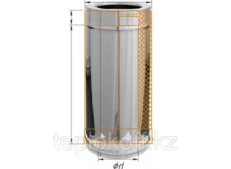 Дымоход двустенный, по воде L=500, D=200/280, AISI 430/430, 0,5/0,5 мм (Феррум)