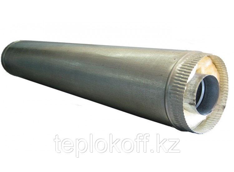 Дымоход двустенный, по воде L=1000, D=200/280, AISI 430/ОЦ, 0,5/0,5 мм (Феррум)