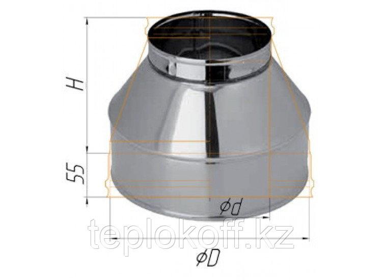 Конус D=200/280, AISI 430/430, 0,5/0,5 мм, по воде (Феррум)