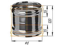 Адаптер ММ для печи D=115, AISI 430, 0,5 мм (Феррум)