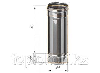 Дымоход L=500, D=115, AISI 430, 0,5 мм (Феррум)