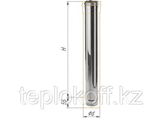 Дымоход L=1000, D=115, AISI 430, 0,5 мм (Феррум)