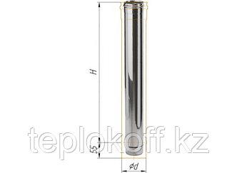 Дымоход L=1000, D=115, AISI 430, 0,8 мм (Феррум)