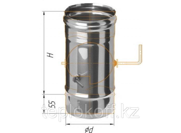 Заслонка (шибер поворотный) D=115, AISI 430, 0,8 мм (Феррум)