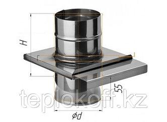 Задвижка (шибер выдвижной) D=115, AISI 430, 0,8 мм (Феррум)