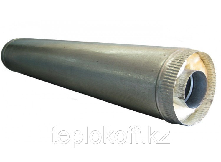 Дымоход двустенный, по воде L=1000, D=115/200, AISI 430/ОЦ, 0,5/0,5 мм (Феррум)