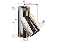Тройник сэндвич 135°, по воде D=115/200, AISI 430/430, 0,8/0,5 мм (Феррум)