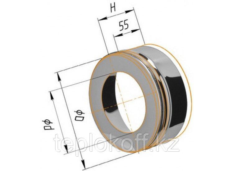 Заглушка с отверстием D=115/200, AISI 430/430, 0,5/0,5 мм (Феррум)