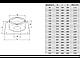 Потолочно-проходной узел D=120, AISI 430, 0,5мм (Феррум), фото 2