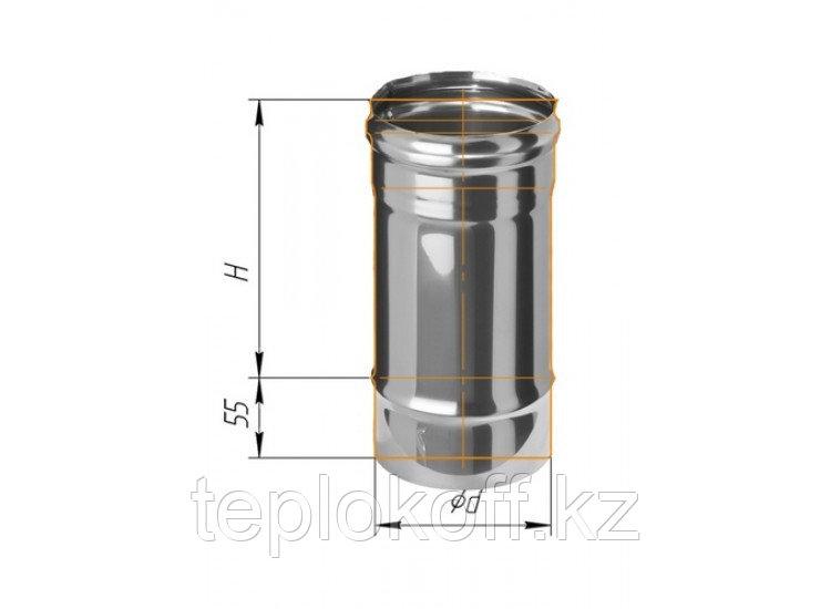 Дымоход L=250, D=120, AISI 430, 0,8 мм (Феррум)