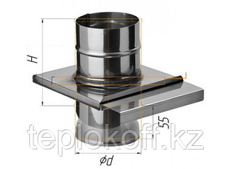 Задвижка (шибер выдвижной) D=120, AISI 430, 0,8 мм (Феррум)