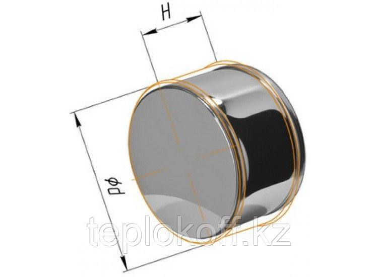 Заглушка М, по воде D=120, AISI 430, 0,5 мм (Феррум)