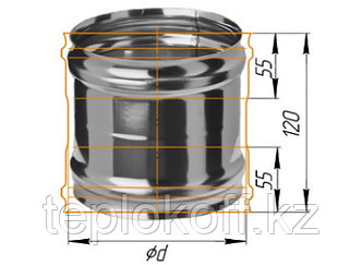 Адаптер ММ для печи D=150, AISI 430, 0,5 мм (Феррум)